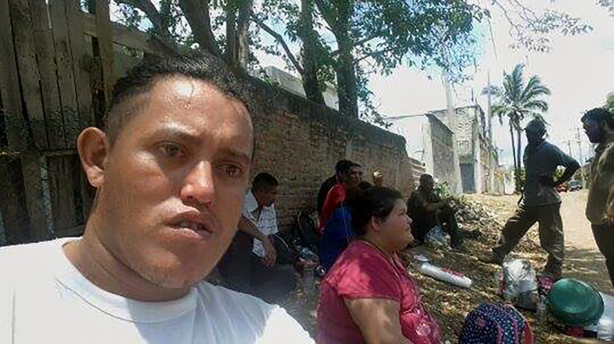 MEXICALI, MEXICO: About a week after he left Guadalajara, Mario took this photograph with a camera phone he borrowed and shared via Facebook messenger. His crew rode the trains for a week and before arriving near the U.S. border.